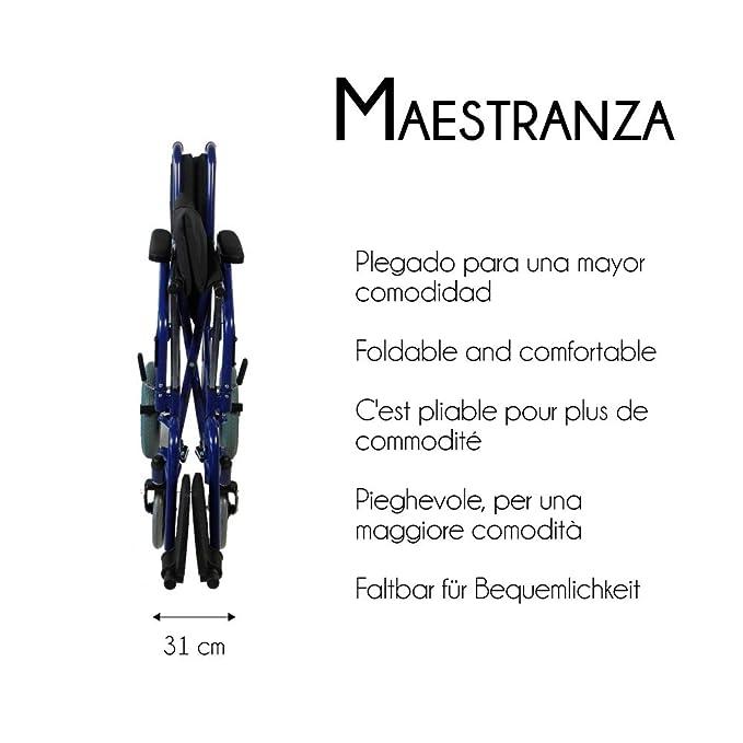 Mobiclinic Silla de Ruedas Plegable   tránsito   Reposabrazos y reposapiés extraibles   Ancho Asiento 45 cm   Negro   Maestranza: Amazon.es: Juguetes y ...