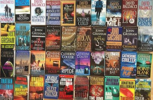 Crime Thriller Novel Collection by John Grisham, Jonathon Kellerman, David Baldacci and Catherine Coulter 40 Book Set