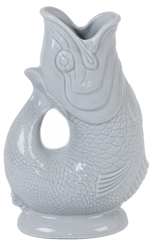 Large Gluggle Jug Green Wade Ceramics G31156//GN 8.5-Inch
