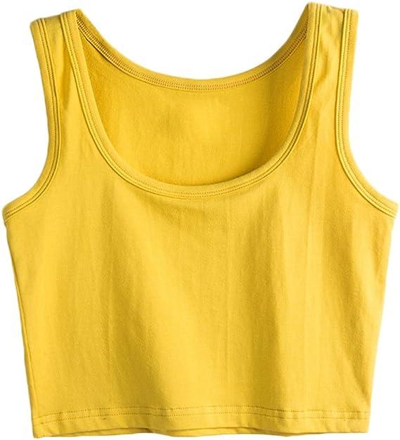 SUNDAY Rose - Camiseta de tirantes para mujer (algodón, sin mangas ...