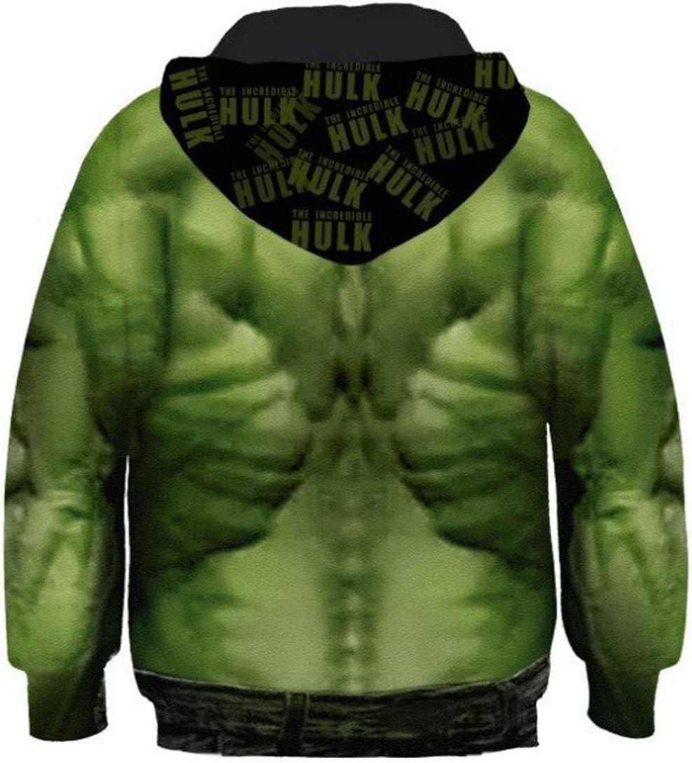 XS CASUALBOYS Avengers Hulk Print 3D-Druck Anime Cosplay Jungen M/ädchen Hoodie Kapuzenpullover Sweatshirts Mit Kapuze Pullover 4-13 Jahre Green-105cm-115cm