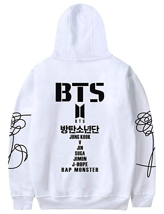 Amazon.com : SIMYJOY ENJOY THE SIMPLICITY Unisex BTS Fans Hoodie Menbers Name Pullover Cool Sweatshirt Kpop Top for A.R.M.Y : Sports & Outdoors