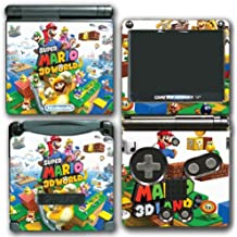 Super Mario 3D World 2 Land Mario Luigi Peach Toad Cat Suit Video Game Vinyl Decal Skin Sticker Cover for Nintendo GBA SP Gameboy Advance System