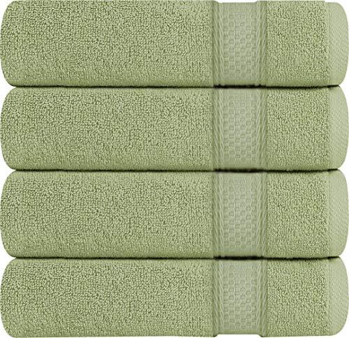 Utopia Towels 700 GSM 4 Pack Premium Bath Towels - Towel Set - (27 x 54 inches) - 100% Ring-Spun Cotton Towels (Sage Green)