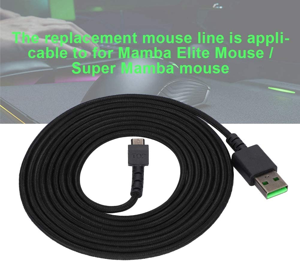 Wendry Mouse Line,Mouse Line Pure Copper Core Gaming Mouse USB Cable Mouse Replacement Cable for Razer//Super Mamba