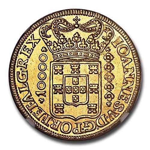 1725 BR M Brazil Gold 10000 Reis MS-62 NGC Gold MS-62 NGC