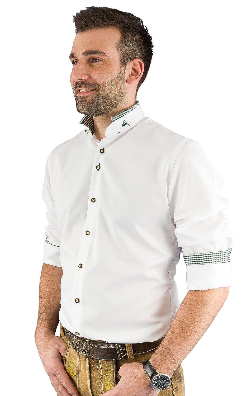 arido Trachtenhemd Herren langarm 2624 255 weiß tanne 40