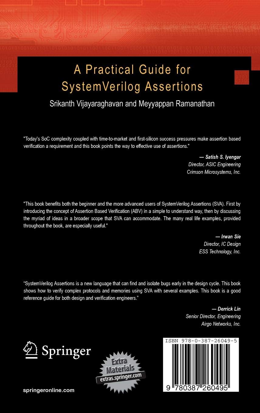 Buy A Practical Guide for SystemVerilog Assertions Book