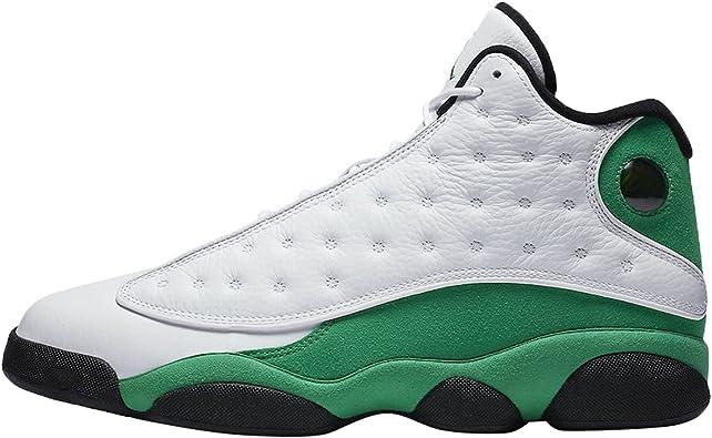 Amazon.com   Jordan Air 13 Retro Lucky Green Mens Db6537 113 ...