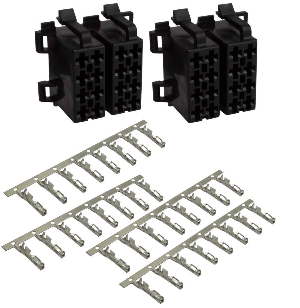 2X Conector Enchufe ISO 16 Pines con 32 terminales Pin Fuente de alimentaci/ón Universal AERZETIX Sonido Altavoces recintos C41247