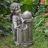 MTS Outdoor Cherub Pedestal Fountain