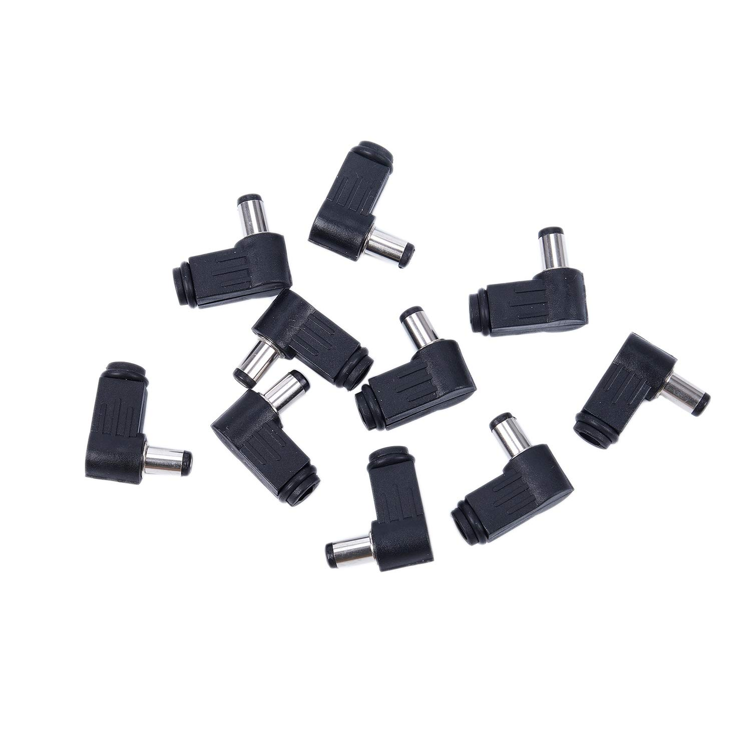 TOOGOO(R) 10x 2.1mm x 5.5mm Male Plug Right Angle L Jack DC Power Connector