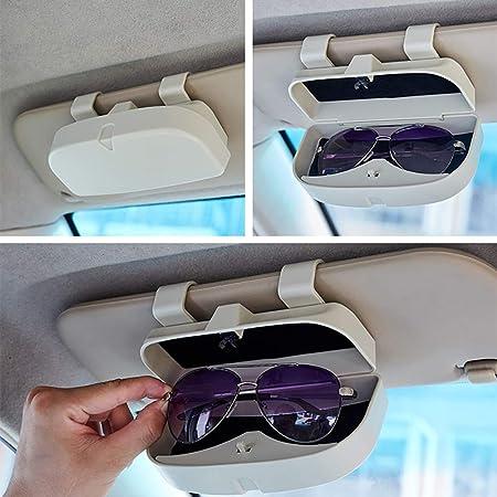 Bweele Estuche para anteojos para Autos, Porta Gafas de Sol universales Estuche para anteojos para anteojos Porta portaesques para Gafas de Sol con Ranuras para Tarjetas para Visera de Coche: Amazon.es: Hogar