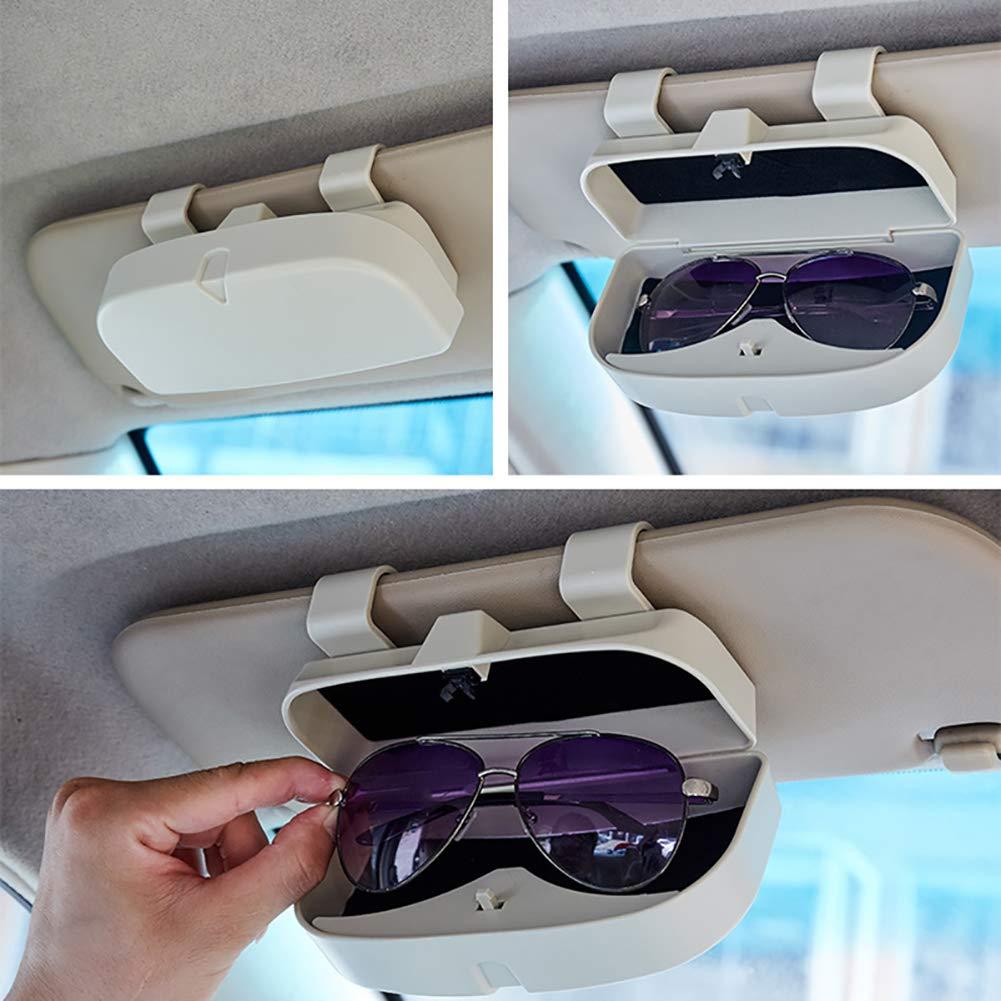 Multifunzione Colore: Grigio Qeedio Custodia per Occhiali da Sole per Auto