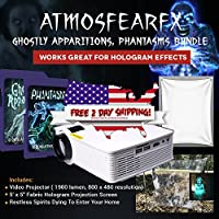 Virtual Atmosfearfx Halloween LED Projector Kit Window Decoration. Includes Atmosfearfx Ghostly Apparitions, Phantasms and Ghostly Apparitions