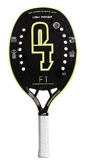 HP Pala de Tenis Playa F1 Yellow 2019: Amazon.es: Deportes y aire ...