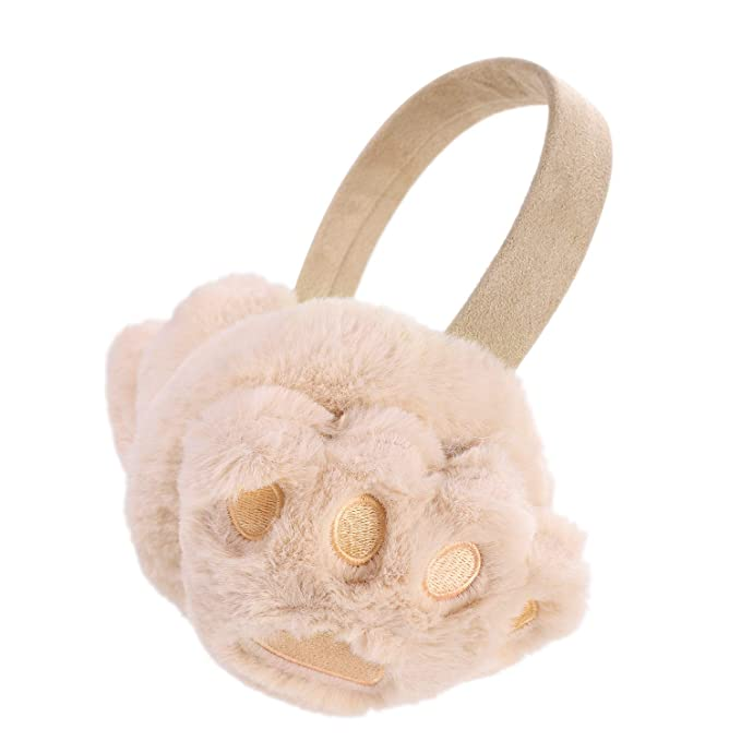 281dd404402 Women And Men Cute Winter Earmuffs Foldable Earmuffs Bear Paw Plush Ear  Muffs Fluffy Ear Warmer