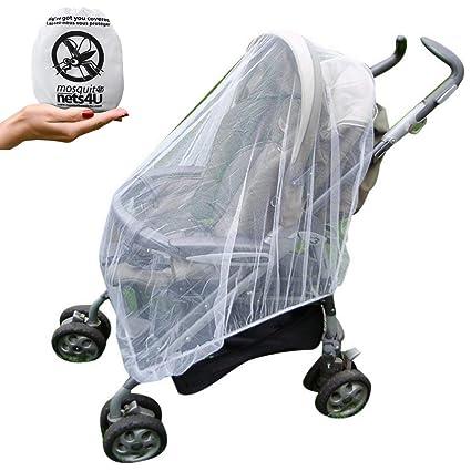 Mosquito Nets 4 U OM-ZJBW-ND0M - Mosquitero Multiusos para Sillas de Paseo, Carritos de Bebés, Sillas de Coches y Cunas de Viaje