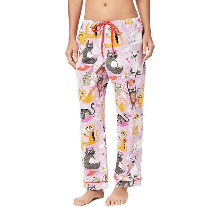 Amazon.com: El Gato De Pijama Catnip algodón pantalón: Clothing
