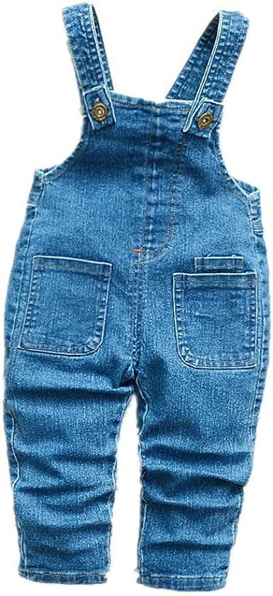 TIFENNY Baby Kids Bowknot Jeans Denim Romper Bodysuit Jumpsuit Casaul Cotton Clothes