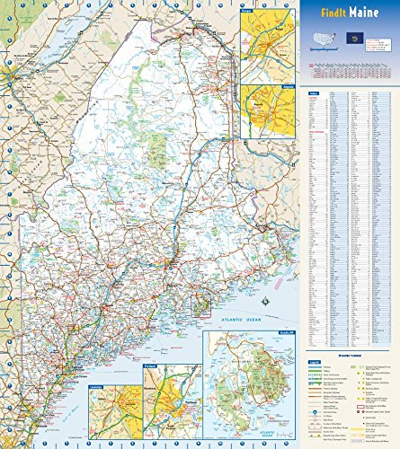 "Maine State Wall Map - 18.5"" x 20.75"" Paper"
