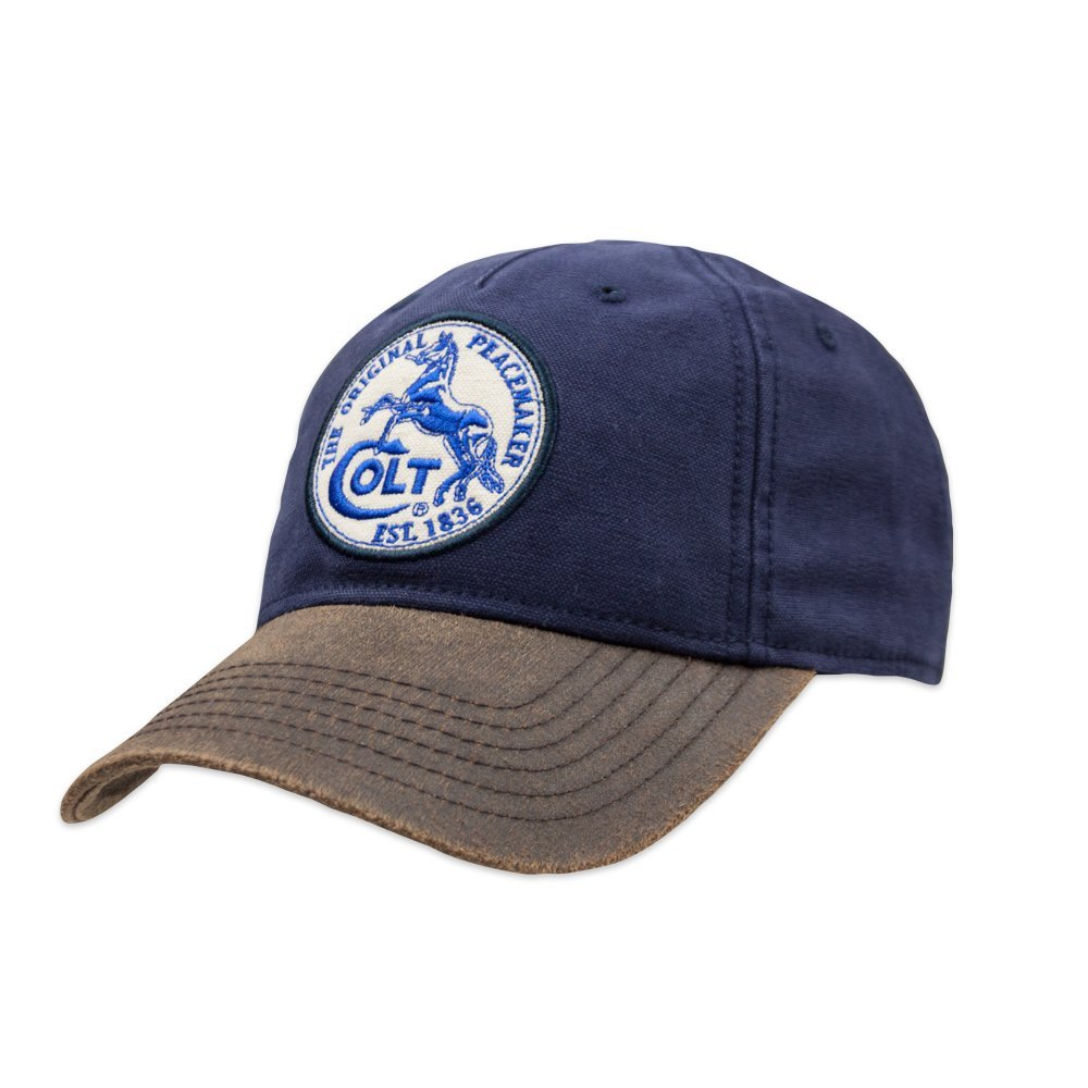 65820828884 Official Colt Firearms Baseball Cap Blue Canvas with White Colt Logo Patch  Craig Apparel
