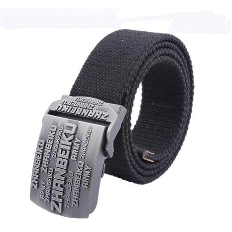 CHOUBAGUAI Cinturón Cinturón De Lona para Hombres Y Mujeres ...
