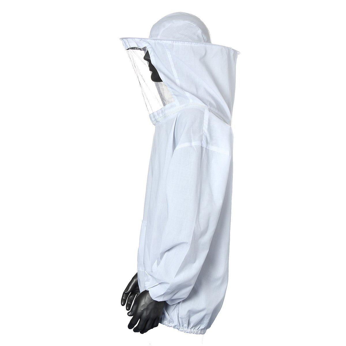 Binnan Traje de Apicultor Profesional para Apicultura,Blanco