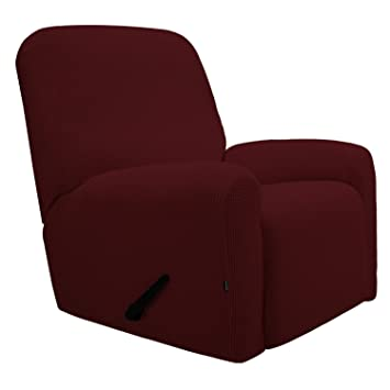 Easy-Going Recliner Stretch Sofa Slipcover Sofa Cover 4-Pieces Furniture  Protector Couch Soft with Elastic Bottom Kids, Spandex Jacquard Fabric  Small ...