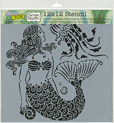 The Crafter's Workshop TCW783 Mermaid Dreams Template, Multicolor by The Crafter's Workshop