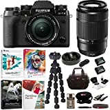 Fujifilm X-T2 Mirrorless Digital Camera with 18-55mm and 50-230mm Lens (Black) Bundle