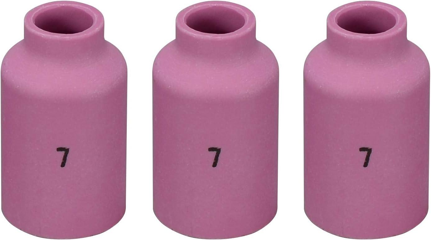 57N74 #8 TIG Alumina Nozzle Gas Lens Fit SR DB WP 17 18 26 TIG Welding Torch 5PK