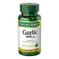 Nature's Bounty Garlic Extract 1000 mg Softgels 100 ea (Pack of 2)