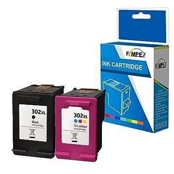 Fimpex Remanufacturado Tinta Cartucho Reemplazo para HP Deskjet ...