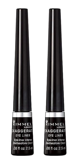fce29a15a4c Amazon.com: Rimmel Exaggerate Felt Tip Eye Liner, Black - Easy Precise  Application Long Lasting Felt Tip Liquid Eye Liner Pen: Beauty