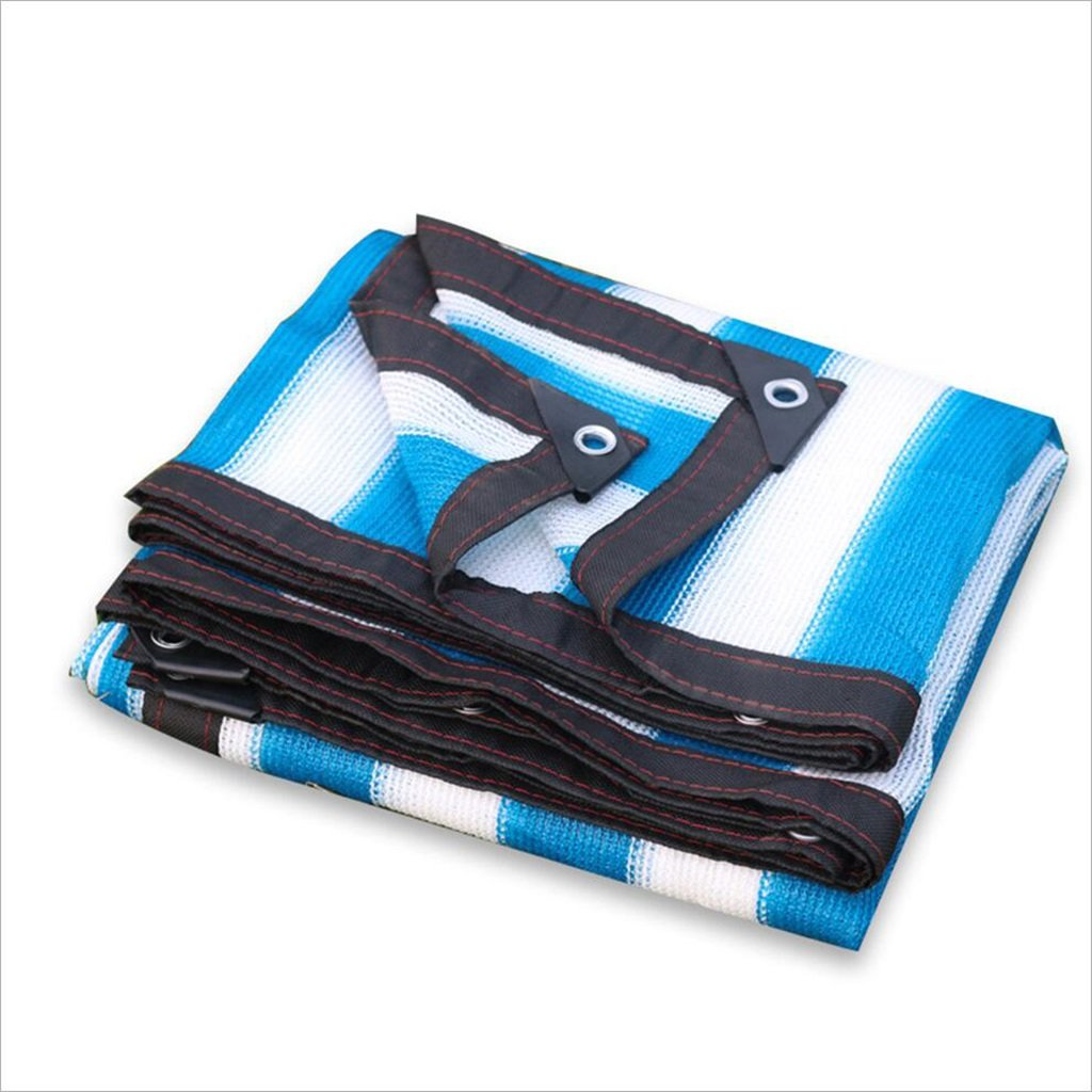 2x3M Tarpaulin Waterproof Sunscreen Tent blueee White Striped Plastic Poncho Tarpaulin Simple Fashion Multiple Sizes