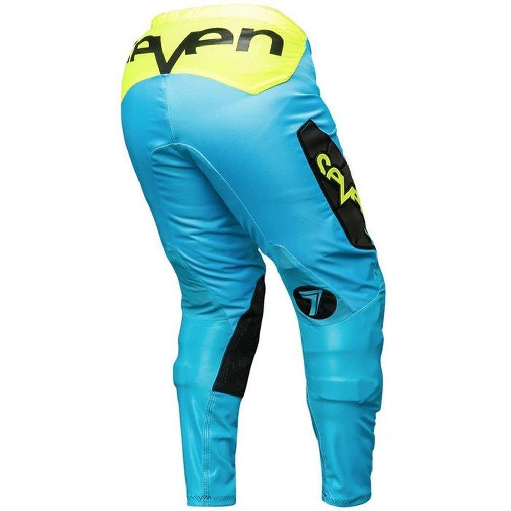 Seven Zero Flite Mens Off-Road Pants Black//Blue Size 34