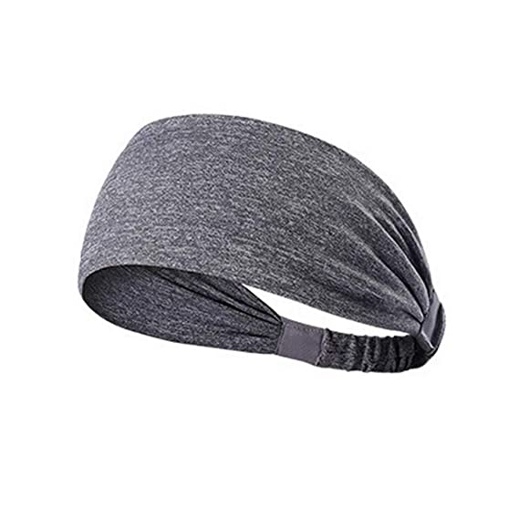 Women Cotton Knotted Turban Head Warp Hair Band Wide Elastic Headband Sport hair accessories for women,Plum