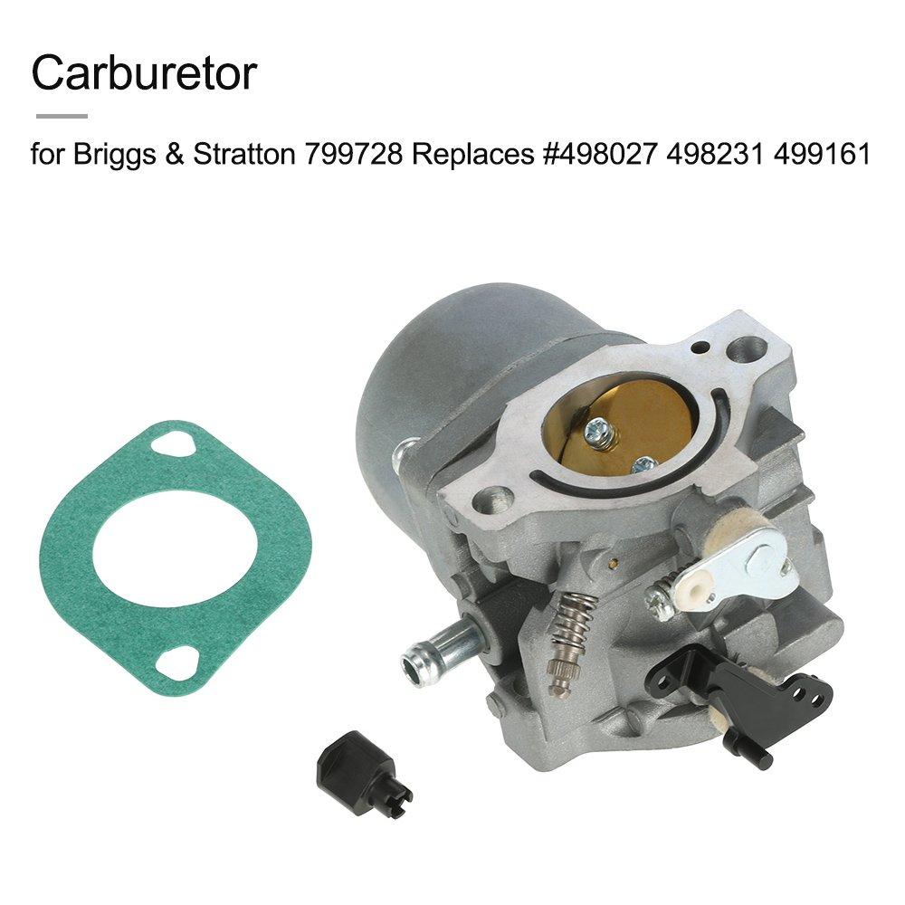 KKmoon Carburador para Briggs & Stratton 799728 Replaces ...