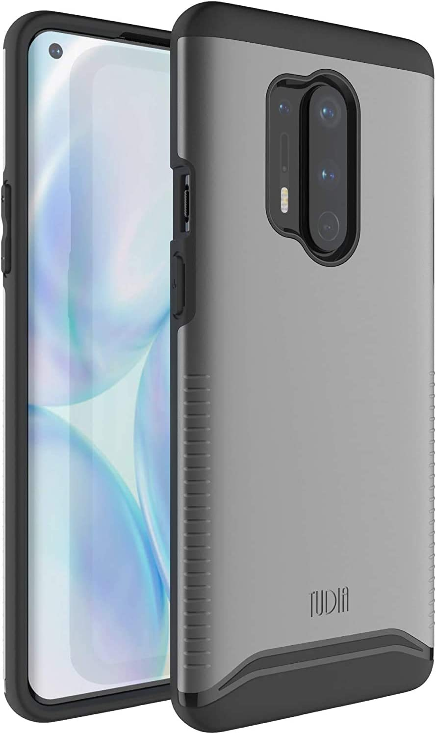 TUDIA Merge Designed for OnePlus 8 Pro Case, Dual Layer Phone Case Cover for OnePlus 8 Pro (Metallic Slate)