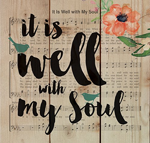 Well with My Soul Sheet Music Design 10 x 10 Wood Pallet Design Wall Art Sign Plaque ()