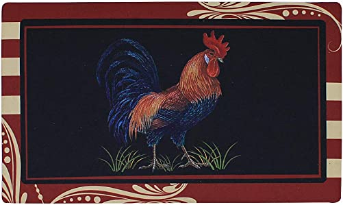 Rooster Door Mat Indoor Entry Way Doormat for Front Door Patio Anti Slip Rubber Entry Mat Country Farmhouse Entrance Door Mats 17x 29 inch