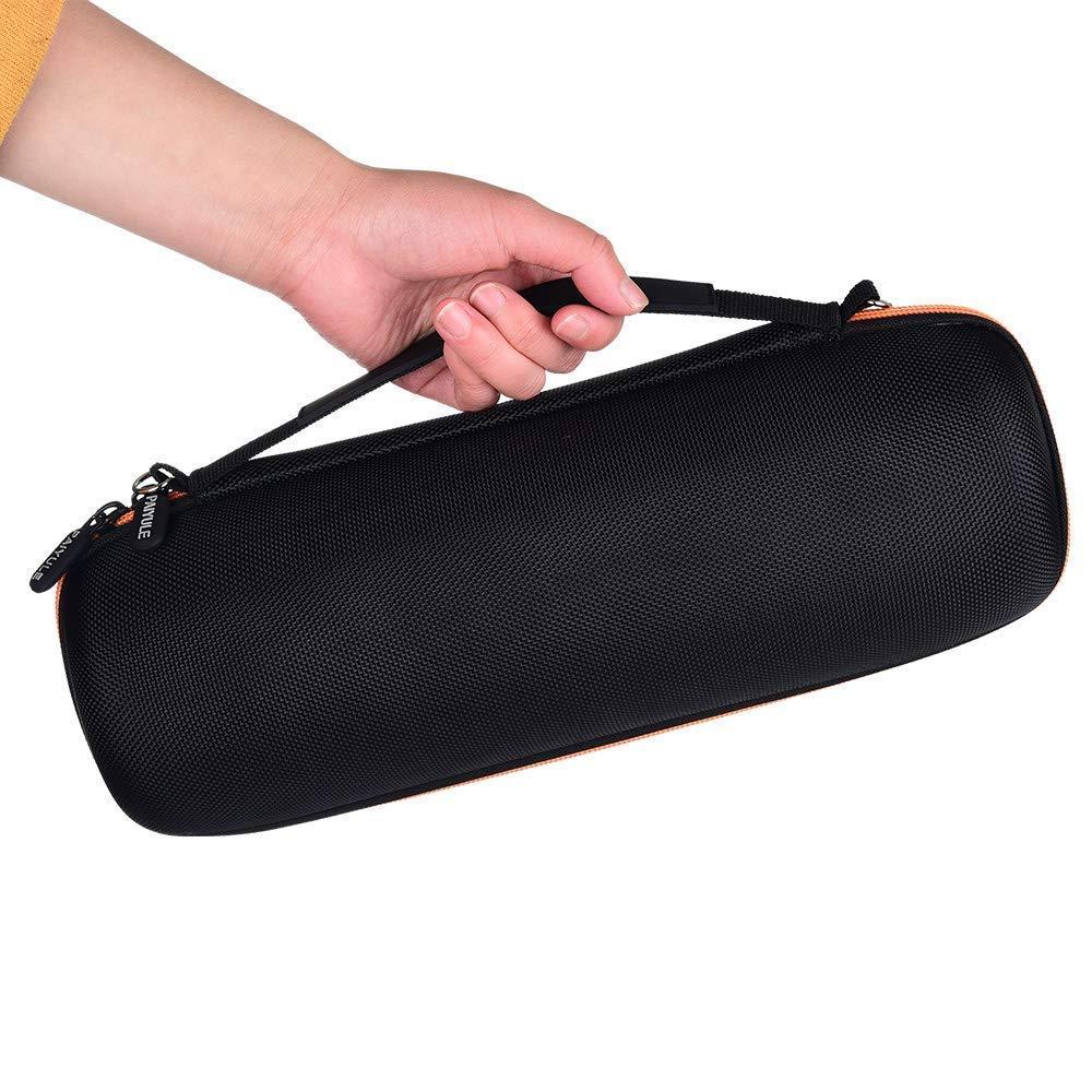 Color Negro Incluyendo Correa de Hombro Carcasa r/ígida Compatible con JBL Charge 4 Altavoz port/átil Bluetooth Impermeable con Espacio para Enchufe y Cable