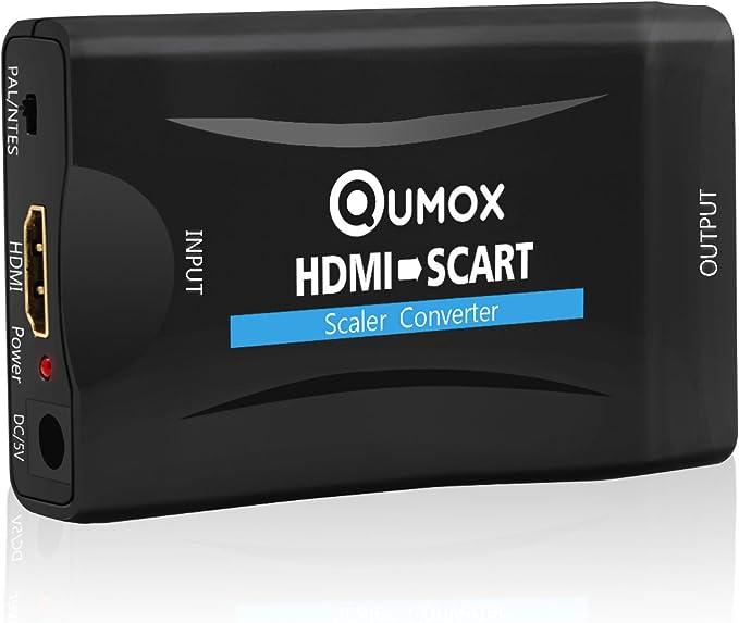 QUMOX 1080P HDMI a Scart Convertidor Audio Video Adaptador EIA ...