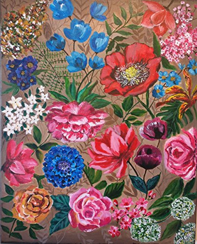 Floral painting, Original canvas painting, 16
