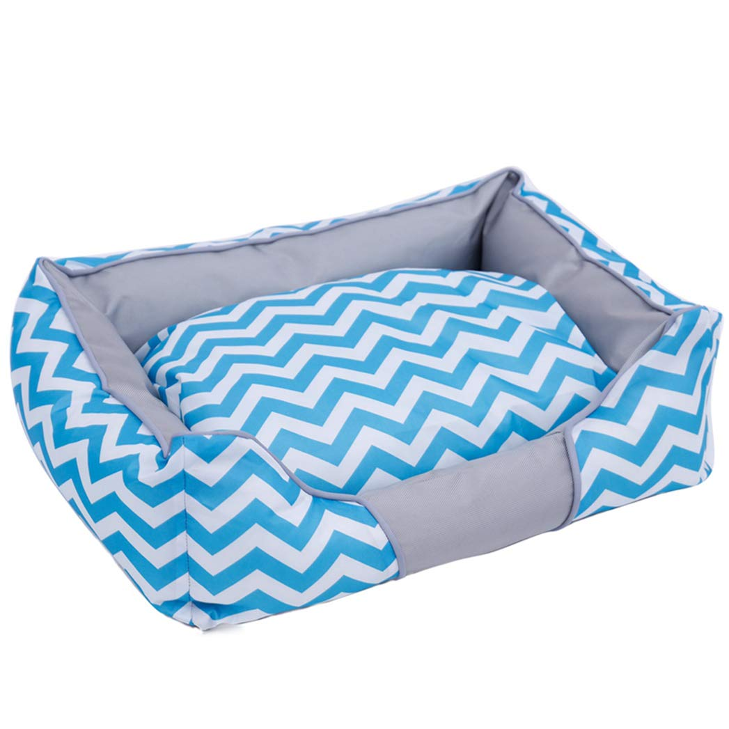 blueE L blueE L Summer Cool Dog Bed,Soft Oxford Cloth Cooling Fashion Canvas Kennel Pet Beds Pad Mats Cushion for Dog Cat Puppy