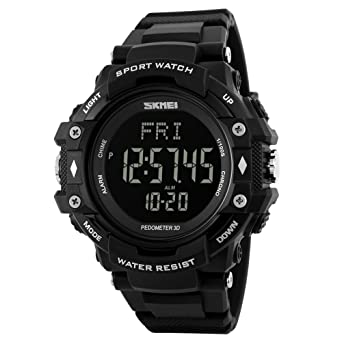 df94f79fa1a Amazon.com  SKMEI Men Digital Sports Watches with Heart Rate Monitor ...