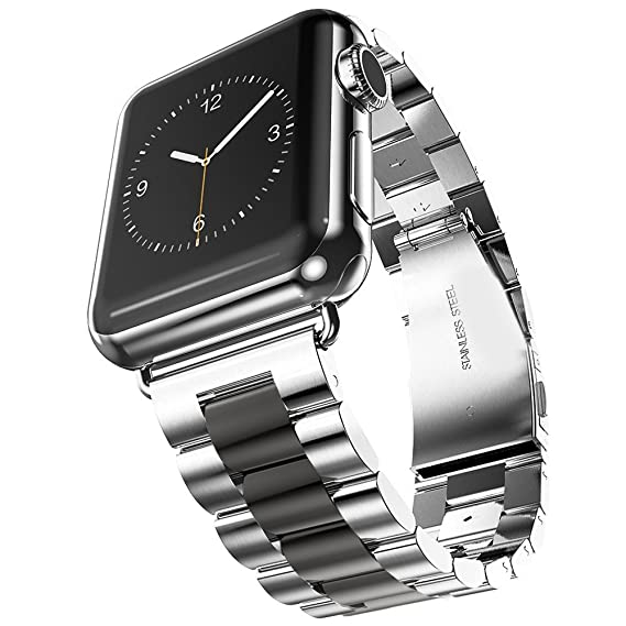 9c778dace909a U191U Band Compatible with Apple Watch 42mm Stainless Steel Wristband Metal  Buckle Clasp iWatch Strap Replacement