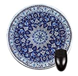 Navy Persian/Oriental Rug-Mat- Round Mouse pad - Stylish, durable office accessory and gift