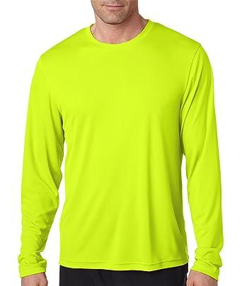 ec22eee38 Hanes Men s 2 Pack Long Sleeve Cool Dri T-Shirt UPF 50+ 1 Graphite 1 ...
